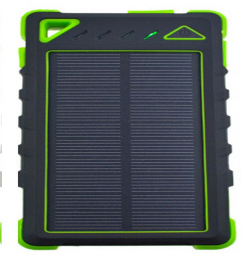 Waterproof solar charger solar mobile phone charger usb power bank(8000mAh)