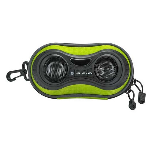 Bicycle Speaker Case with Hands-Free Speaker phone Calls and Rechargeable 4,000mAh Power Bank Charge For iPods