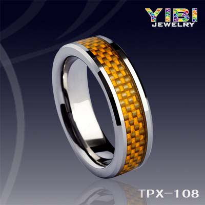 Fashion Mens Tungsten Carbide Rings Wholesale Cheap Gold Carbon Fiber Tungsten Engagement Ring