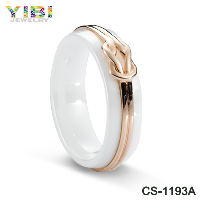 2016 new design gold wedding ceramic ring