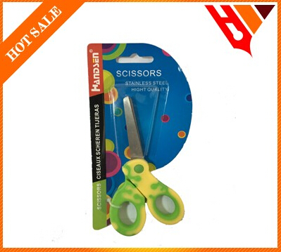 5.25 new design hight quality rubber circle stainless steel scissors