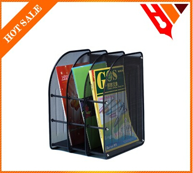 divided compartment multifunctional mesh metal file desk organizer
