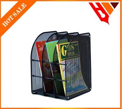 divided compartment multifunctional mesh metal file desk organizer