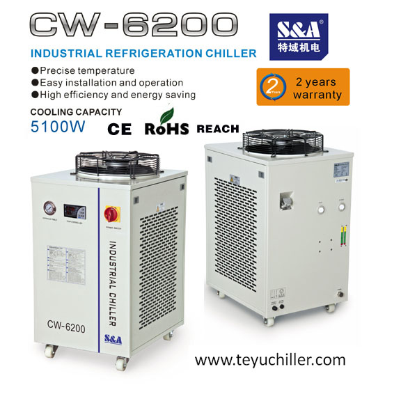 S&A water cooled industrial chillers for ozone generators cooling