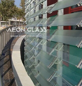 4mm-6mm Clear NASHIJI LOUVRE GLASS with CE&ISO certificate