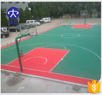 PP suspending interlock floor interlocking PP floor mat for outdoor sports ground use anti-slip waterproof floor plastic floor