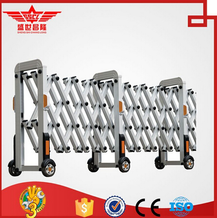 Aluminum fashionable high quality industrial retractable gate-L1532