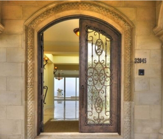 Garden decorative pedestrian steel mian door