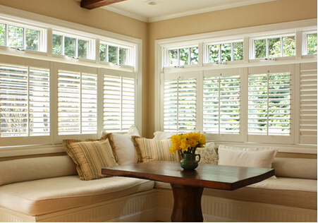 Factory price pvc casement windows with rolling shutter