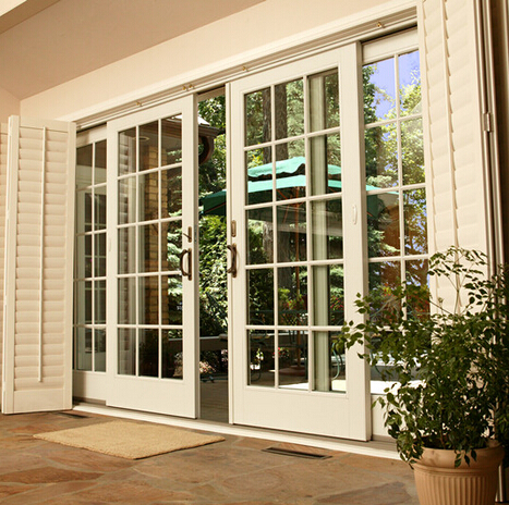 French style double panel aluminum sliding window