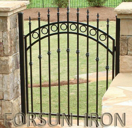 Small wrought iron gate walkway gate