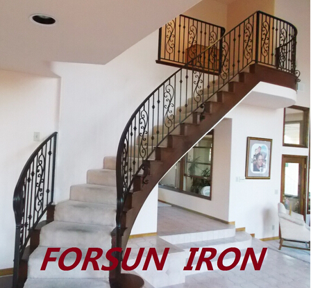galvanized wrought iron stair railing ship