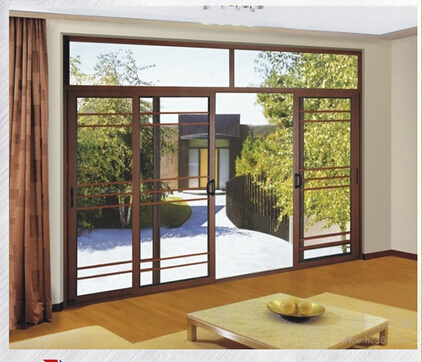 Colorful aluminum door framed sliding glass door