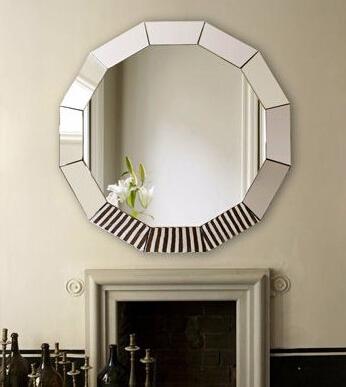 cheap silver mirror, decorate circle fancy mirror wholesales