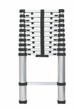 TUV best price sliver aluminium telescopic ladder