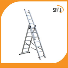 4 m Extension aluminum ladder with GS certificate triple profile