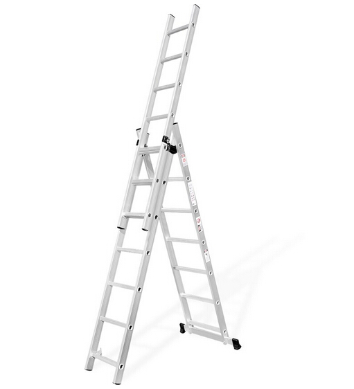 3*8 steps Aluminum adjustable combination Step Ladder, Combiantion step Extension Ladder, 3 sectoin
