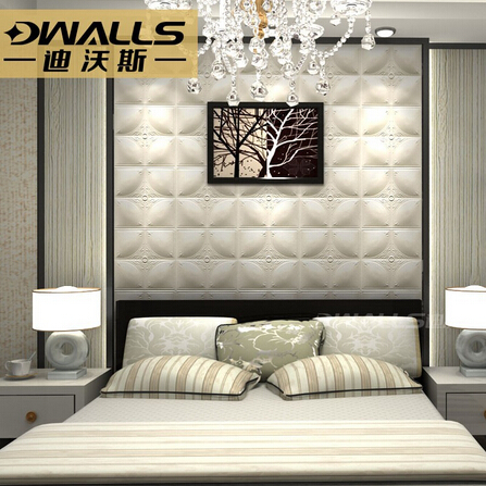 Embossed leather wall Panel for background wall decoration