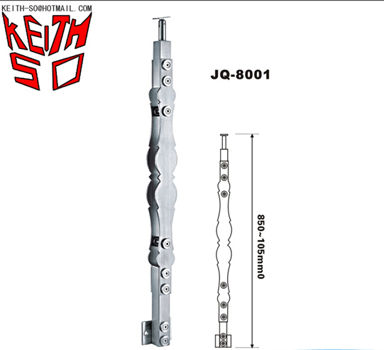JQ-8001 Stair Tube Railing Stainless Steel Balusters