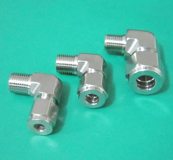 Condibe 304 SS corner tube fitting/ferrule union