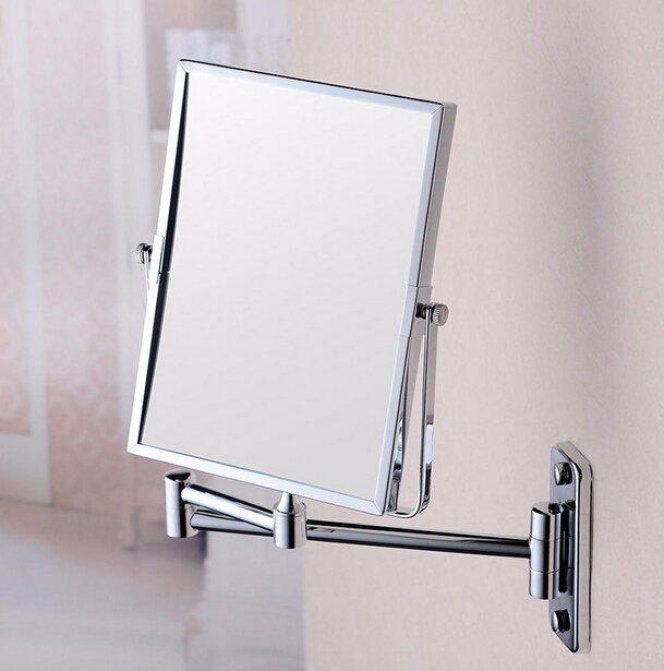 8'' Rectangle Double Side 3X Decorative Compact Mirror