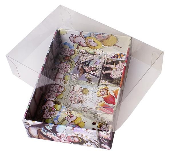 High Quality Custom Paperboard Empty Chocolate Box with Clear Lid