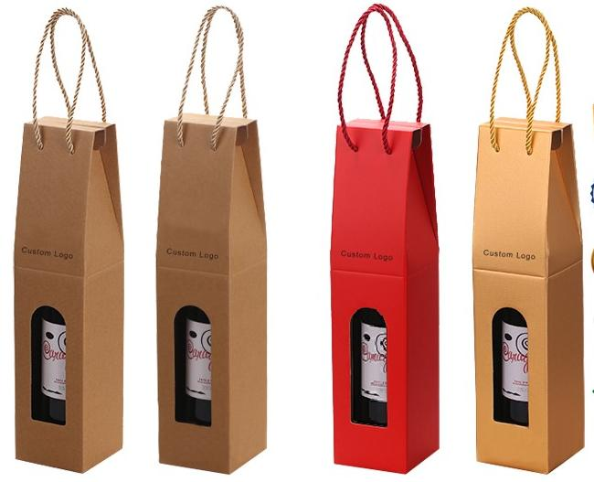 Hot sale Cheap Coated Paper Wine Box Packaging for single bottle Wholesale
