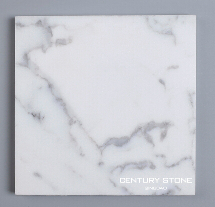 100mm*100mm luxury Italy Statuario white marble subway tile