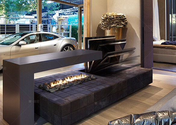 800X250X235mm intelligent ethanol fireplaces china