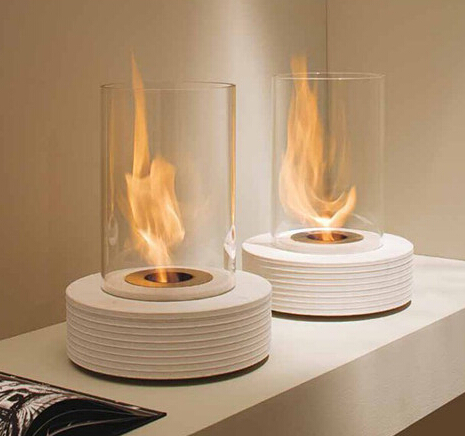 best price White and Round fireplace, latest intelligent ethanol fireplace, size and color OEM