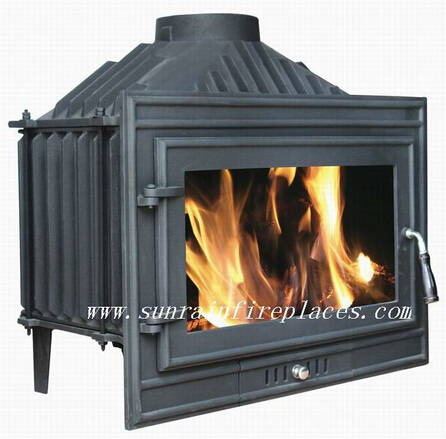 cast iron multi fuel wood burning insert stove(JA007S)