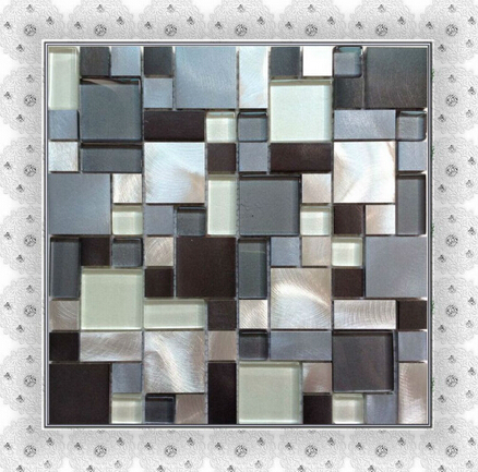 hot sell aluminum mosaic tile multi-sized mosaic tiles