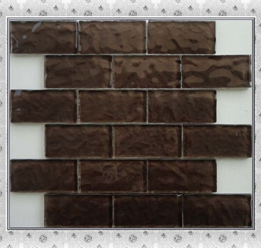 2x4 brown glass mosaic living room mosaic tile designs