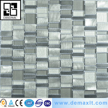 metal mosaic brushed aluminum gray rustic cheap