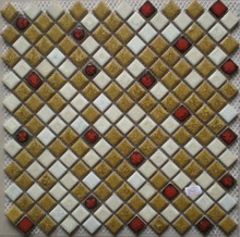 waterproof luminous gold and white ceramic mosaic tile