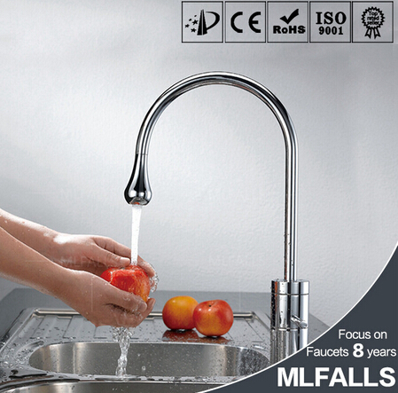 Chrome kitchen faucet modern kitchen mixer water tap stainless steel