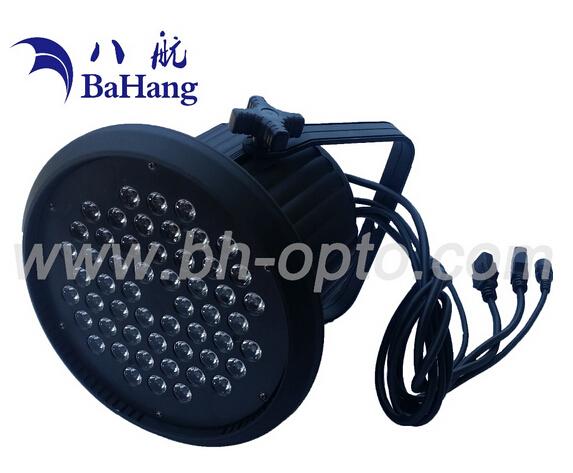 LED par light for stage studio wedding disc bar with 54X3w rgbw