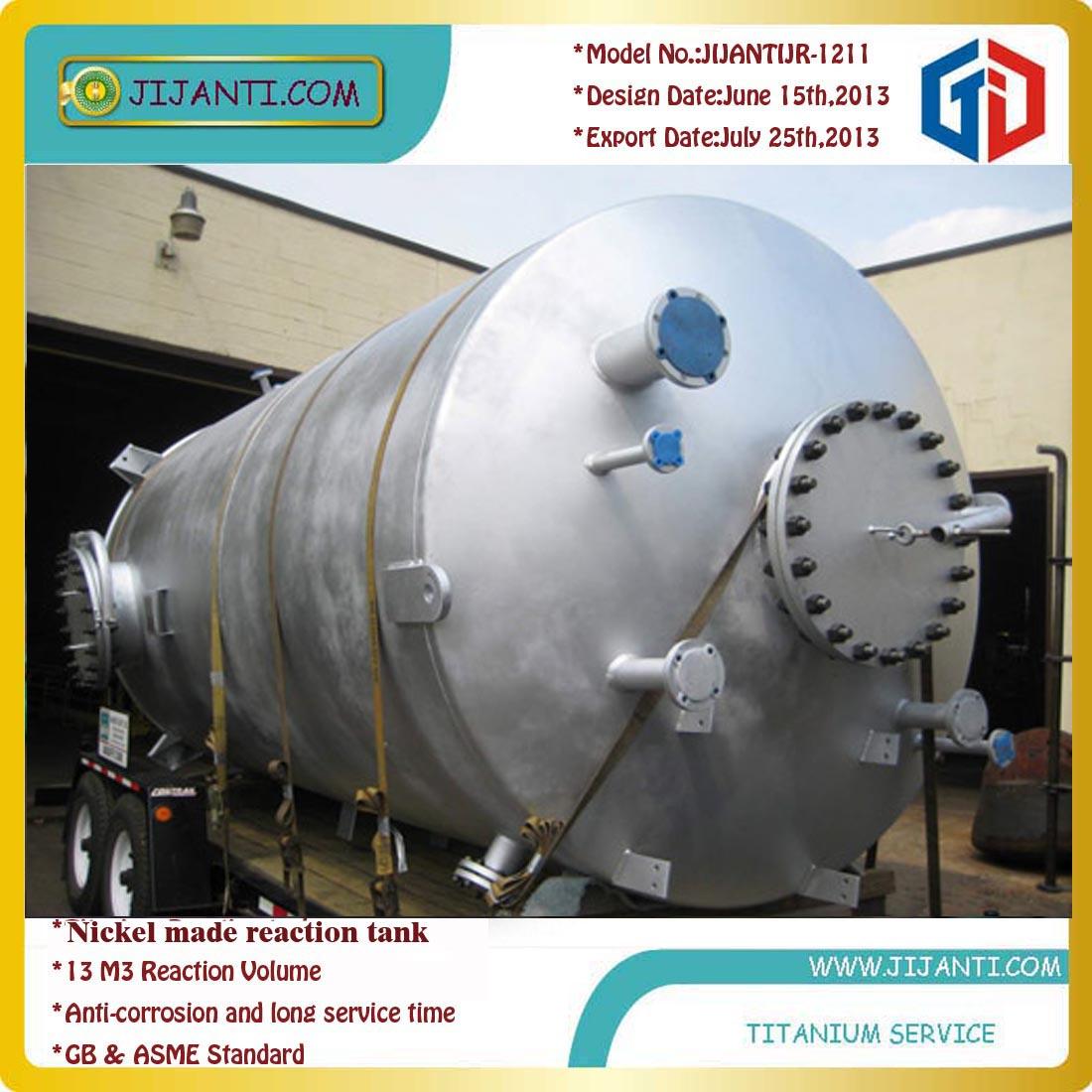 nickel and titanium alloy reactor