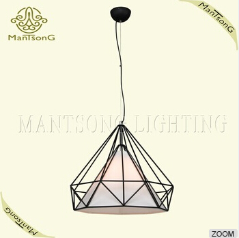 Hot sale classic geometry diamond shape wrought iron pendant lamp