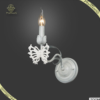 New Products White Butterfly Decorative Candle Wall Lamp Classic Wall Light, Wall Lamp For Hotel