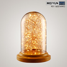 2016 new starry sky table light amber wood
