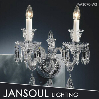 JANSOUL 2 lights modern crystal wall lamp for bedroom