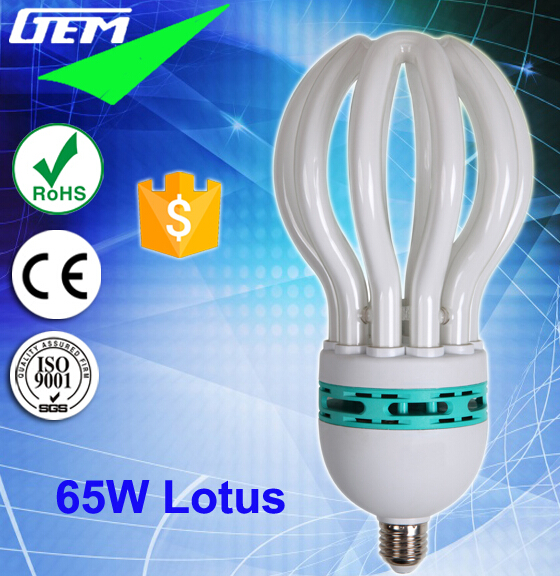 Economic Lamp 45-105W Lotus CFL Bulbs With 4U/5U Shapes