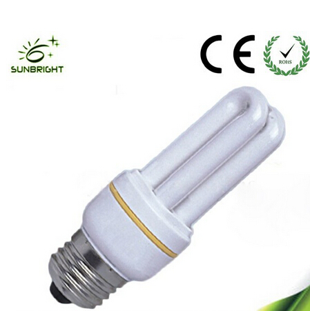 Mini light 2u energy saver lamp T3 3-11w with CE and RoHs