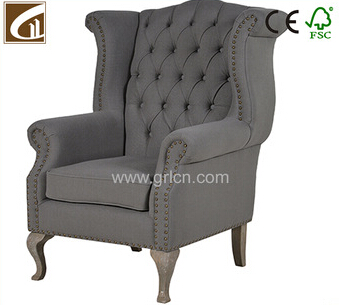 Awesome Vintage Europe Style Solid Oak Wood Frame Upholstery Living Bralicious Painted Fabric Chair Ideas Braliciousco