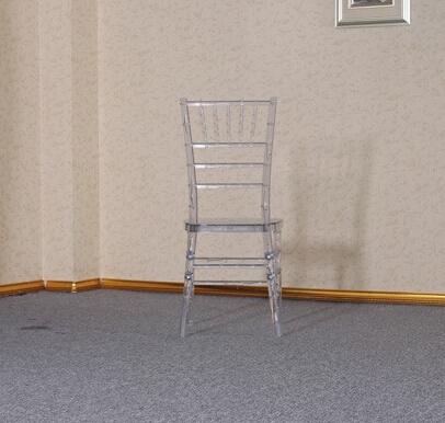 Resin chiavari chair crystal chair with cushion for wedding