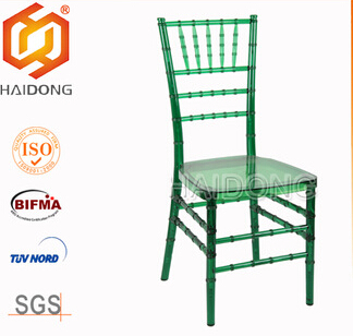 Green Polycarbonate Resin party banquet hotel Chiavari Chair