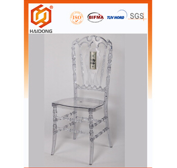 Resin Plastic Royal Chair Plastic PC crystal resin Royal Chair 3