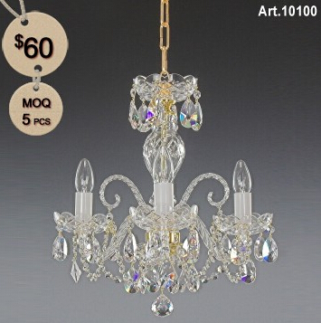 Bohemia Crystal Lamp with 3 Light