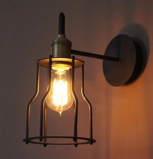7.11-10 Iron Wire Cage Wall Light lamp